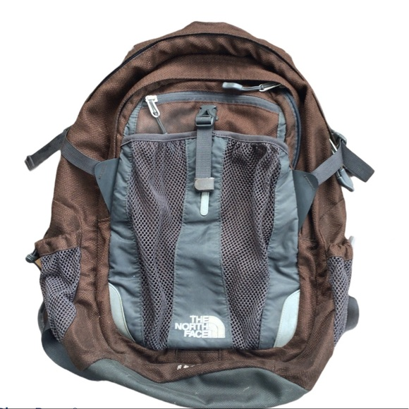 The north face brown black RECON backpack
